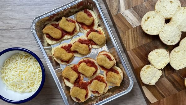 Chicken nugget parmi has it's lovers and haters...