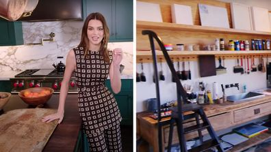 Kendall has an expansive kitchen and an art room in her home.