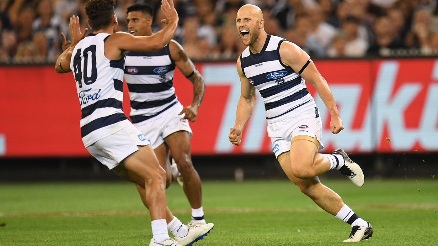 Gary Ablett shines in new forward role as Geelong edges Collingwood in a thriller