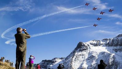 The Patrouille Suisse are the Swiss Air Force's aerobatic team.