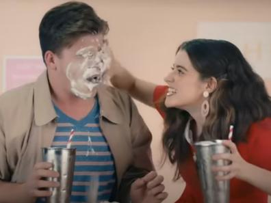 Still from government's milkshake consent video