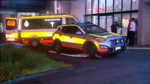 Thom Dover was taken to the Gold Coast University Hospital. (9NEWS)