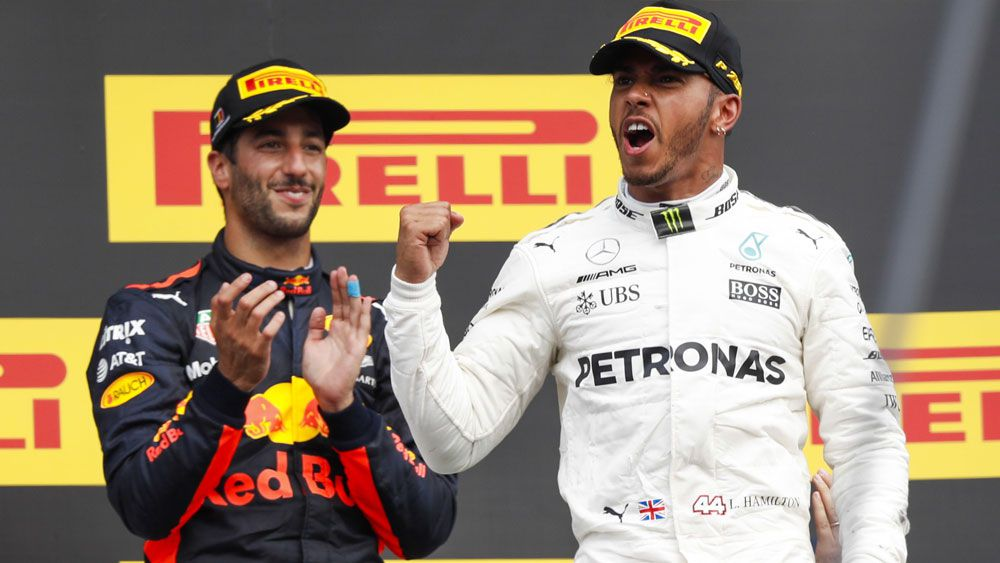 Lewis Hamilton holds Sebastian Vettel out at Belgian Grand Prix while Daniel Ricciardo finishes third