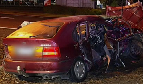 The female driver suffered serious injuries. (9NEWS)