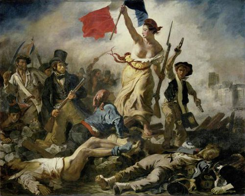 Delacroix, Eugène's 'Liberty Leading the People', 1830.