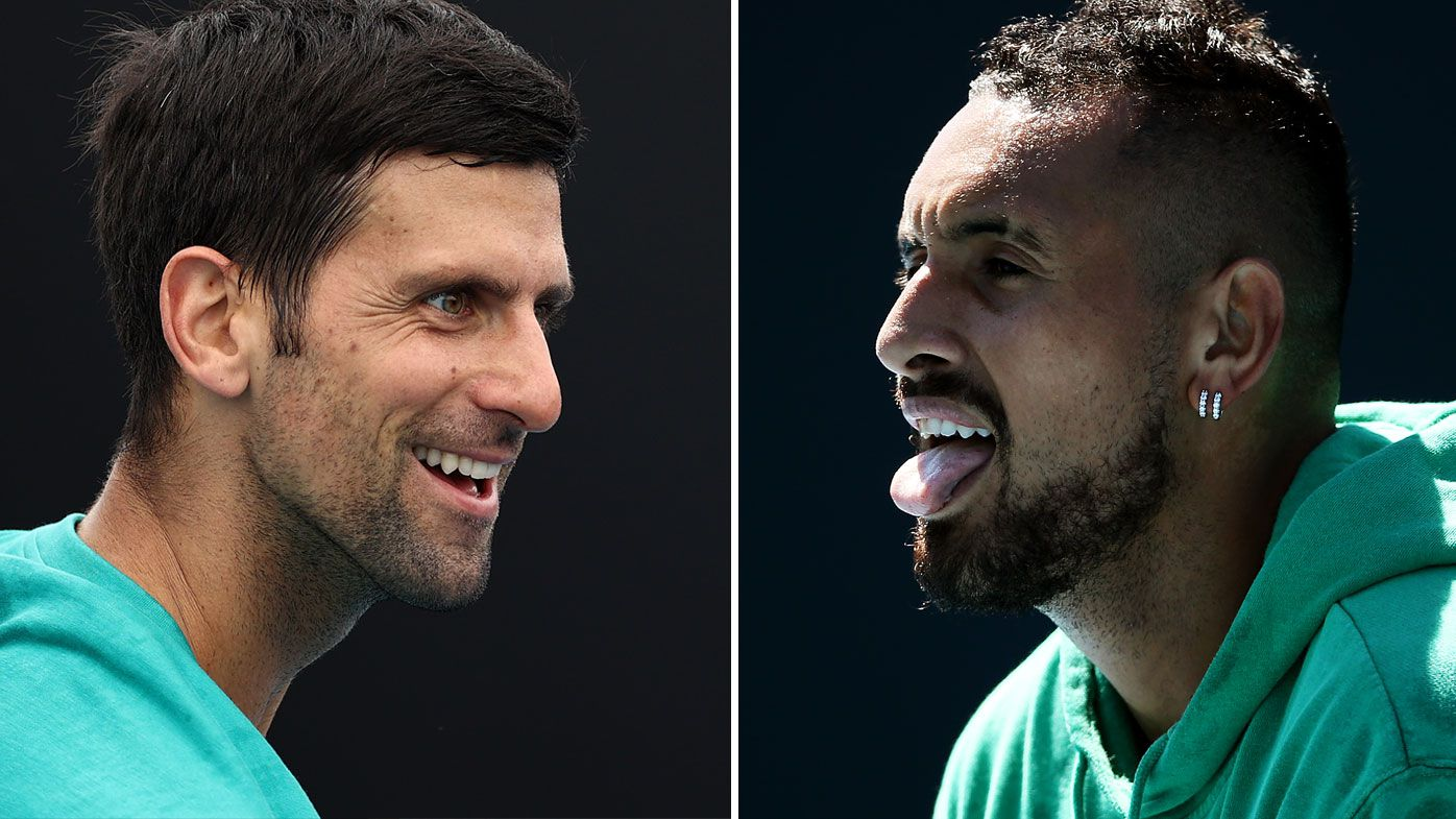 Novak Djokovic has reignited his feud with Nick Kyrgios. (Getty)