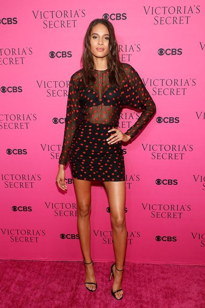 Cindy Bruna in Carmen March at the Victoria's Secret viewing party in New York.