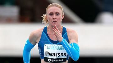 Sally Pearson starts the defence of her 100m hurdles title on Friday morning AEST. (Getty)