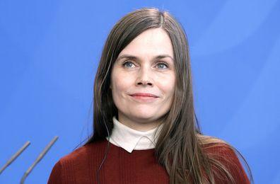 The Prime Minister of Iceland, Katrin Jakobsdottir.
