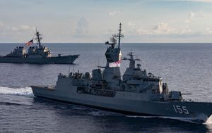 Australia joins US, Japan and Indian navies in war games