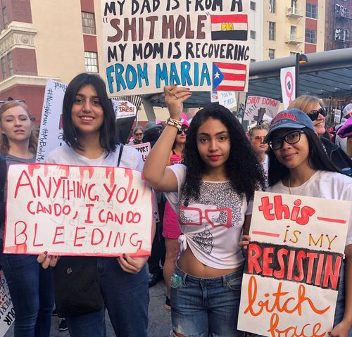Some women had strong messages on their Women's march placards.