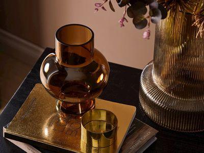 Home Republic Marsala Dark Amber Glass Vase — Adairs