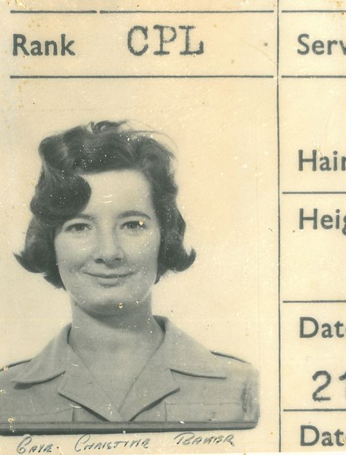 Gaye Baker was a corporal in the Air Force.