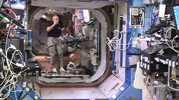On board the international space station.
