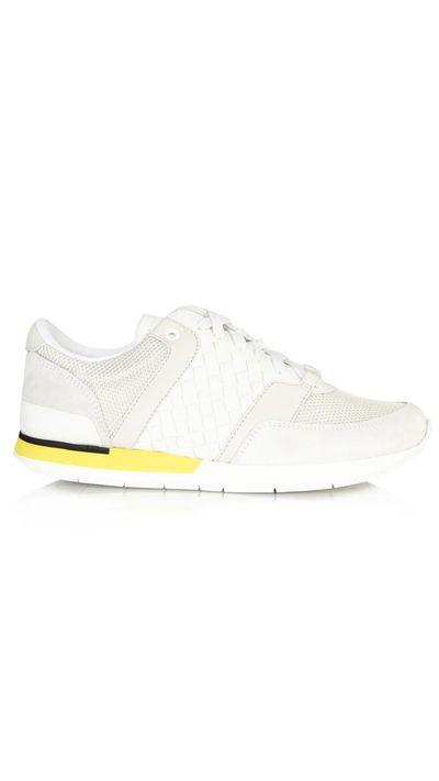 "<a href=""http://www.matchesfashion.com/au/products/Bottega-Veneta-Mist-intrecciato-leather-trainers-1004190"" target=""_blank"">Sneakers, $648, Bottega Veneta at Matchesfashion.com</a>"