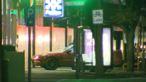 A bomb robot was used to assess the scene. (9NEWS)