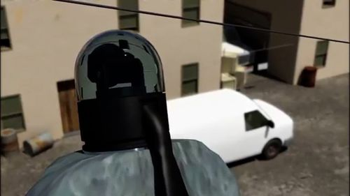 This visualisation shows how a camera can be placed inside the swivelling head of a 'bird' drone.