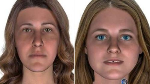 A police composite picture showing what the two women were believed to have looked like, before they were identified.