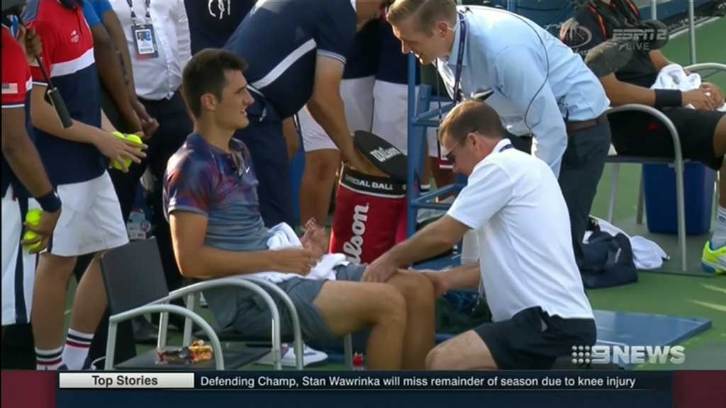 Tomic's career hits hurdle