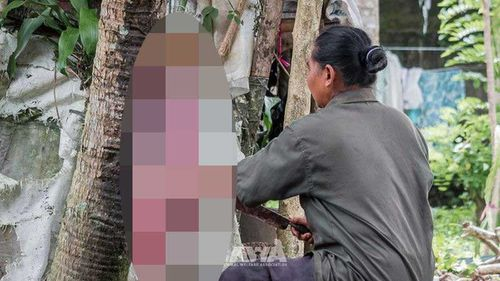 Meat is hacked from the captured Bali dogs while they are still alive, often dying from shock after the torture.