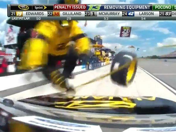 NASCAR pit crew survives ugly crash