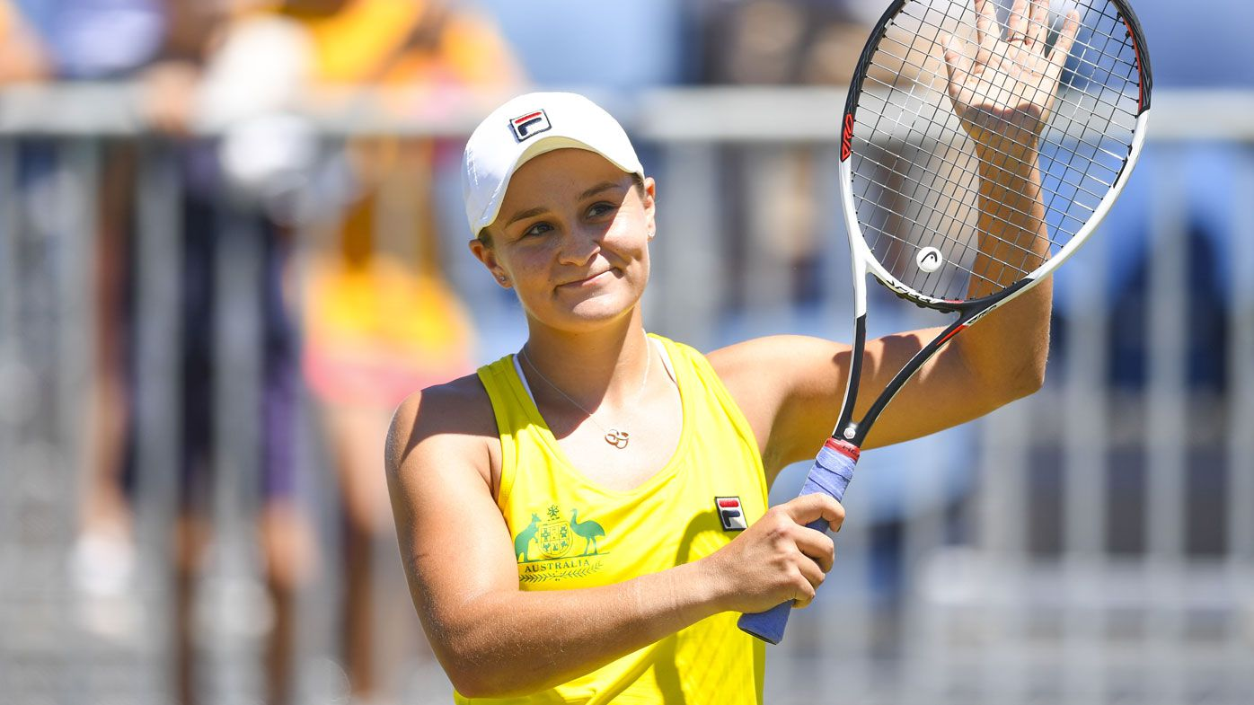 Australia's Ashleigh Barty and Casey Dellacqua team up for Fed Cup win over Ukraine