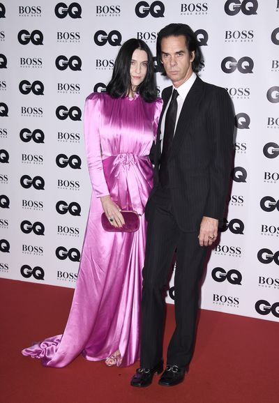 Nick Cave and Susie Bickat the BritishGQMen of the Year Awards