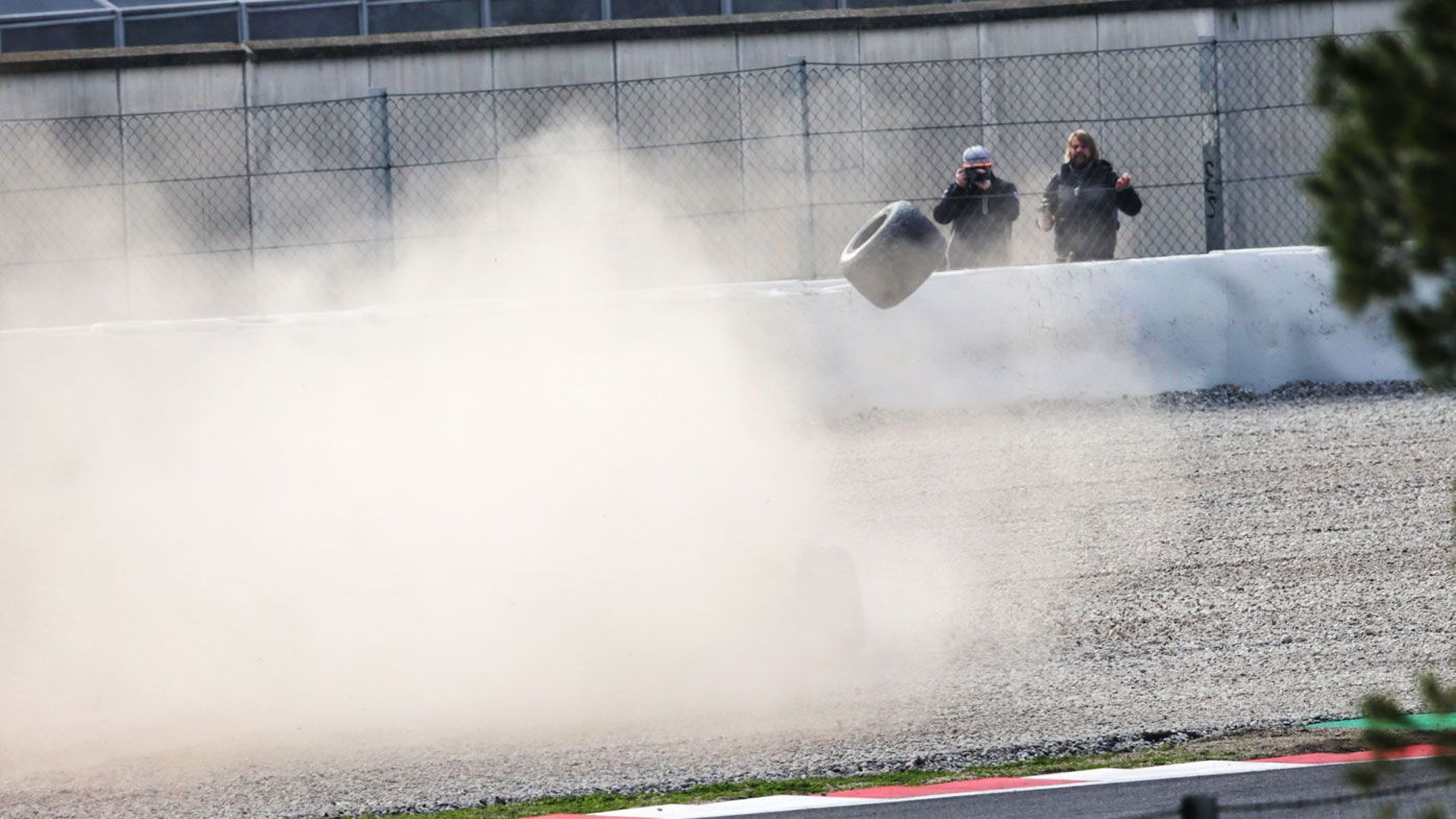 Wheel falls off for Fernando Alonso after six laps in McLaren car at F1 testing