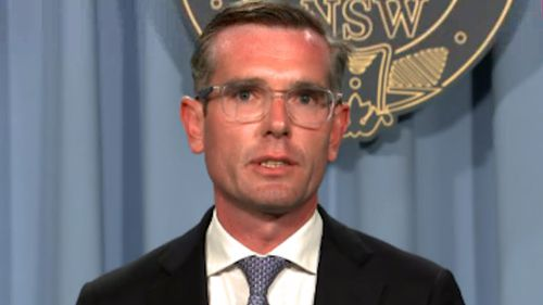 """NSW Treasurer Dominic Perrotted announcing the government's plan to bring international students back into the state """"within weeks""""."""