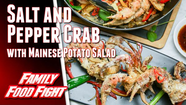 The Alatini's Salt and Pepper Crab with Mainese Potato Salad