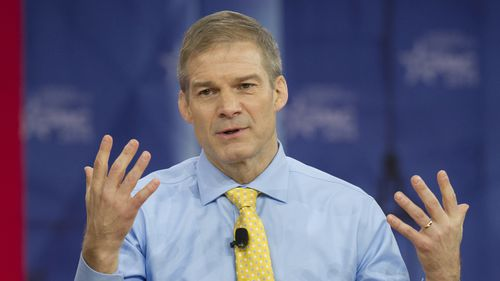 United States Representative Jim Jordan speaks at the Conservative Political Action Conference in February 2018. (PA)
