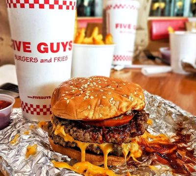 Five Guys cheeseburger