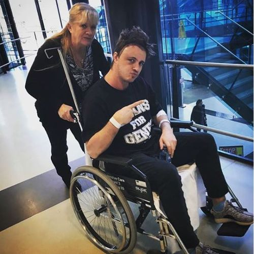 Doctors told the star he had developed a rare strain of cancer that only affects three percent of all patients. Picture: Instagram/Johnny Ruffo.