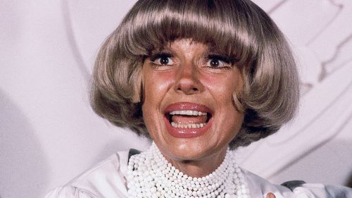 A file photograph shows actress Carol Channing at the Grammy Awards in Los Angeles in 1982.