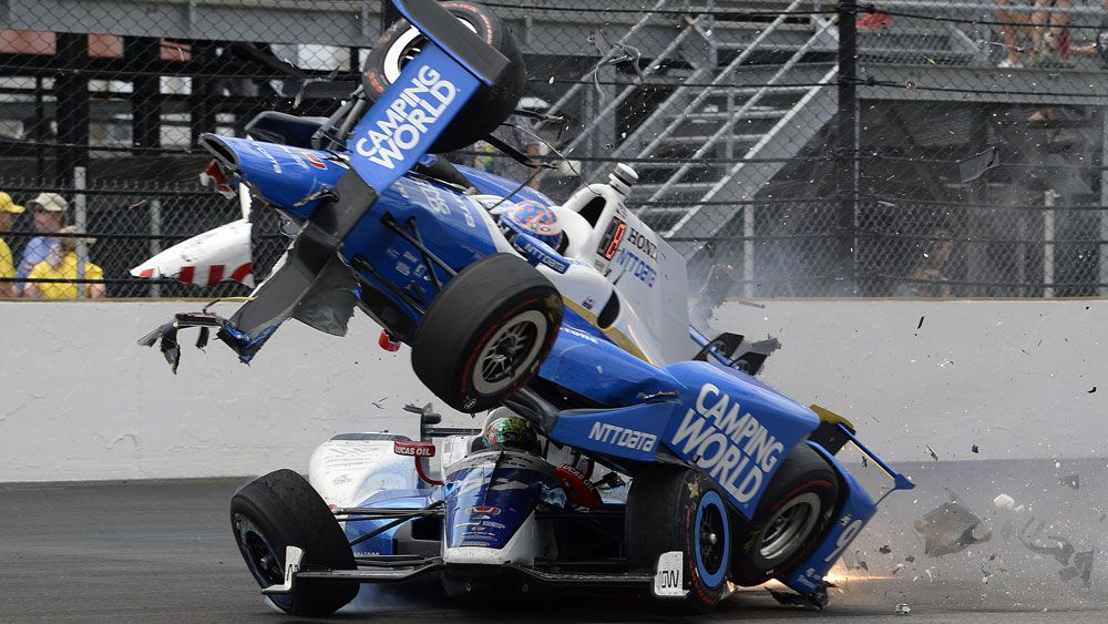 New Zealand's Scott Dixon lucky to walk away unscathed after terrifying crash at Indy 500