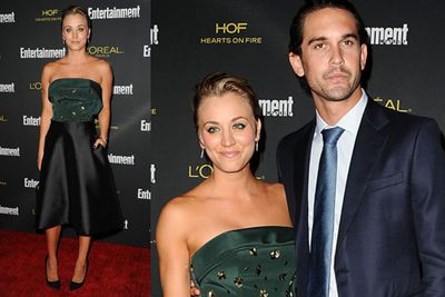 <i>Big Bang Theory</i> star Kaley Cuoco Sweeting arrived with her hot arm candy, hubby Ryan!