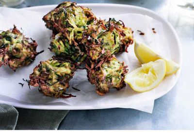 Zucchini and dill fritters
