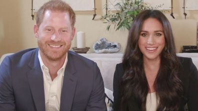 Prince Harry and Meghan Markle during the Time100 Talks