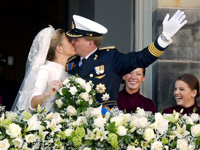 Royal Wedding of the Prince Willem-Alexander with Maxima Zorreguieta In Amsterdam, Netherlands On February 02, 2002