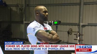 Former NFL running back Silas Redd trying to make it in rugby league