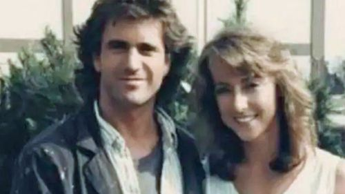 Sanders with actor Mel Gibson.