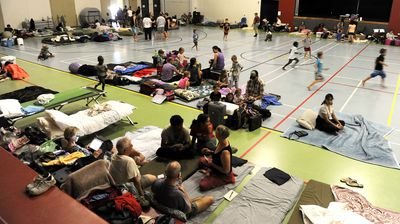 The Cooktown evacuation centre. (AAP)