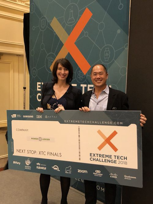 Australian blockchain energy provider, Power Ledger, edged out thousands of other entrepreneurial companies to become a finalist in the Extreme Tech Challenge (Supplied).