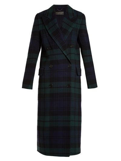 "<a href=""https://www.net-a-porter.com/au/en/product/992863/Burberry/double-breasted-tartan-wool-and-cashmere-blend-coat"" target=""_blank"">Burberry Double-Breasted Tartan Wool and Cashmere- Blend Coat, $3,213</a>"