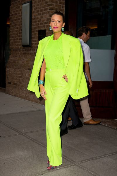 Blake Lively in Versace in New York, August, 2018