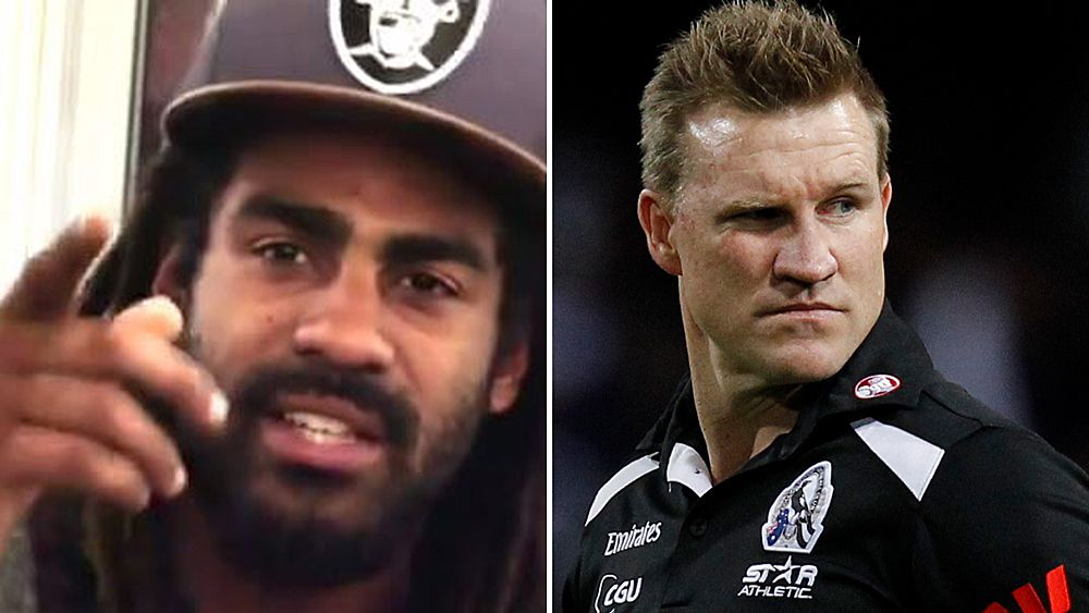 Collingwood Magpies star Heritier Lumumba recounts clashes with coach Nathan Buckley and racist 'chimp' nickname in documentary