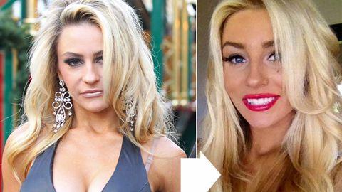 Now less skanky: Courtney Stodden's pretty makeunder