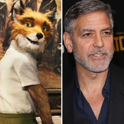George Clooney as Mr Fox in Fantastic Mr. Fox
