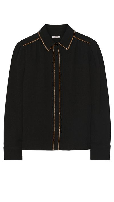 "<p><a href=""http://www.theoutnet.com/en-AU/product/See-by-Chloe/Sequin-embellished-black-shirt/458869"" target=""_blank"">Sequin-Embellished Black Shirt, approx. $195, See By Chloé at the outnet.com</a></p>"