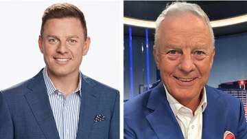 Ben Fordham and a transformed photo using FaceApp.